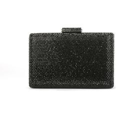 Crystal Box-Frame Clutch Black (¥31,350) ❤ liked on Polyvore featuring bags, handbags, clutches, frame clutch, crystal clutches, crystal handbags and crystal purse