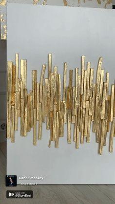 Diy Artwork, Diy Wall Art, Diy Wall Decor, Gold Wall Art, Abstract Canvas Art, Diy Canvas Art, Geometric Painting, Painting Abstract, Drip Painting