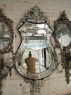 why dont i own this yet-Painted Cottage Chic Shabby Venetian Mirror by paintedcottages, $235.00