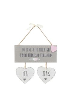 """To Love and Cherish From this day Forward"" Wrote in a bold dark font on this fabulous wooden plaque. With two stunning crafted hearts in Newlywed Gifts, Wooden Plaques, Wedding Themes, Newlyweds, Love Story, Wedding Gifts, Decorations, Writing, Day"