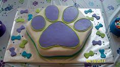 dog paw print cake
