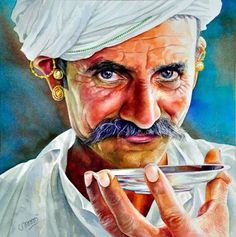 Here is a list of top artists who are famous for their amazing watercolor portraits. I have selected the best watercolor artists to showcase Watercolor Portrait Painting, Portrait Art, Potrait Painting, Watercolor Red, Rajasthani Painting, Indian Art Paintings, Paintings Famous, Oil Paintings, India Art