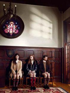 Magic Spectrum #Brown ♡ Emily Meuleman, Emily Smith, Liza Schwab, Olga Timokhina by KT Auleta for Vogue Italia. Preppy