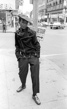 Boy in 1960's Harlem by street photographer Jerry Berndt
