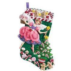 Sugarplum fairy stocking, so cute!