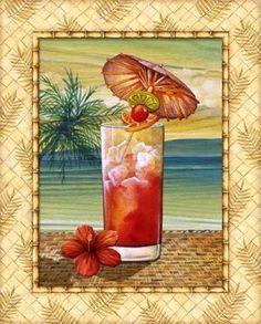Shop for framed Island Nectar III by Charlene Audrey. Art Encadrée, Summer Coloring Pages, Kunst Poster, Color Pencil Art, Tropical Decor, Beach Art, Summer Colors, Paper Background, Decoration