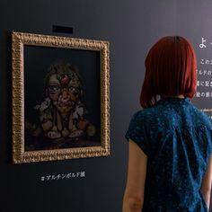 自分の顔が野菜に画家アンチンボルトの絵画になれるインスタレーション開催