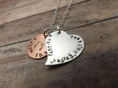 Birth necklaceHand stamped by mybeadedbutterfly on Etsy, $36.00