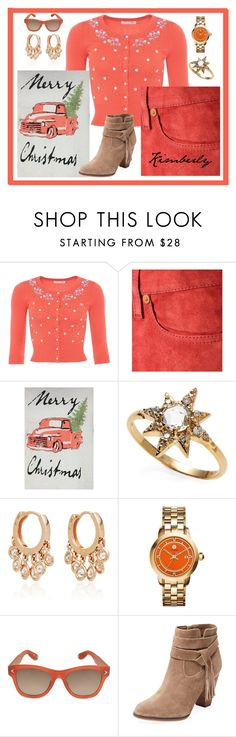 """Merry Christmas"" by kimmie-plus2 on Polyvore featuring Closed, Anzie, Jacquie Aiche, Tory Burch, Givenchy and Steven by Steve Madden"