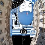 Sky Art: New Illustrations in the Sky Between Buildings by Thomas Lamadieu