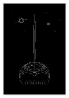 Interstellar Poster Matthew McConaughey Gravity by SketchAndType