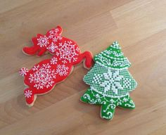 Reindeer and Christmas tree   Cookie Connection      Erica Seifert