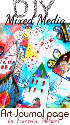 Bonjour les créatives ! Voici un nouveau thème (bien présent en mixed-media) proposé par Céline et moi-même , celui des ailes ! Ai... Art Journal Pages, Junk Journal, Art Journals, Scrap Car, Bullet Journal Inspiration, New Years Eve Party, Elementary Art, Mixed Media Art, Illustration