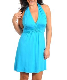 New Firesse Turquoise Sun Dress Build in Cups Size 1x XL | eBay