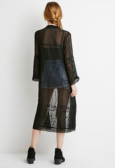 Embroidered Longline Cardigan | Forever 21 - 2002246771