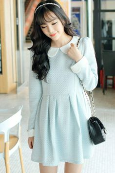 Sweet Pleated A-line Dress - OASAP.com