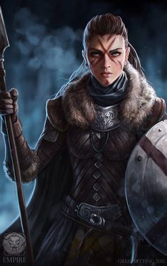 Andretta Wolfhelm, Orlanthi warrior, from the Grazelands - Toraths group