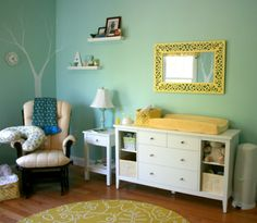 I like the dresser / changing table. Some open shelves and some drawers.