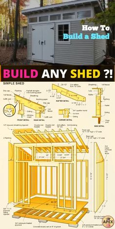 shed plans! Start building amazing sheds the easier way, with a collection of shed plans! The Plan, How To Plan, Shed Building Plans, Diy Shed Plans, Backyard Sheds, Outdoor Sheds, Log Cabin Sheds, Shed Builders, Plastic Sheds