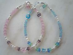 Light Pink or Aqua Mix Glass Cute Evil Eye by urbaneprincess, $15.00