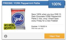 Sweet Coupon Deals - It's Cool to Clip Friday Freebie York Peppermint pattie