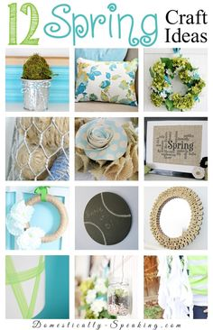 12 Spring Craft Ideas that you can easily make and bring some spring into your home.