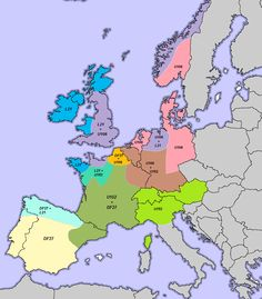 Gli Arcani Supremi (Vox clamantis in deserto - Gothian): Predominant ethnic and genetic groups by region in Europe History For Kids, Family History, European History, Ancient History, Dna Genealogy, Historical Maps, Ancestry, Fun Facts, Study