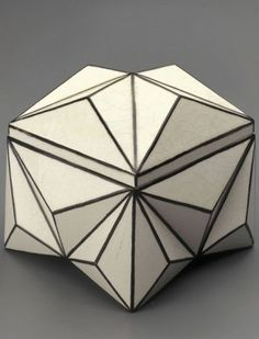 Pavel Janák to ARTĚL, Praga #ceramics [crystal-shaped box, 1911] I have it :*