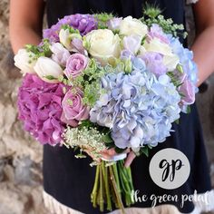 Fernie, BC .  Rocky Mountain wedding.  Hydrangea, queen annes lace, roses, tulips, freesia, lisianthus, purple, blue, Bride's bouquet Tulip Wedding, Wedding Flowers, Queen Annes Lace, Daily Beauty, Bride Bouquets, Rocky Mountains, Purple Flowers, Hydrangea, Tulips