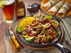 Rezept: Rindfleischpfanne auf Mexikanische Art (Fajita)