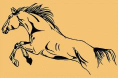 Horse Vinyl Wall Decal Sticker Graphic huge-fun wall decorations-horse theme bedrooms - horse wall murals