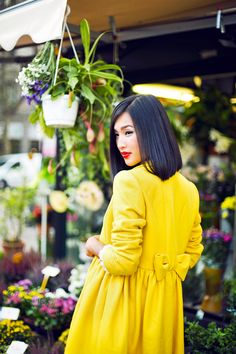 #yellow   red valentino coat   photo by carin olsson