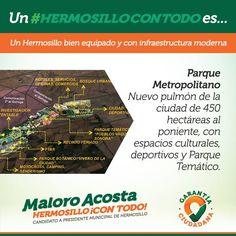 El Parque Metropolitano será para Hermosillo un nuevo pulmón para la ciudad con espacios culturales, instalaciones deportivas y áreas recreativas #HermosilloConTodo