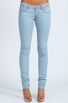 Clare WOW Bleach Super Skinny Jeans at boohoo.com