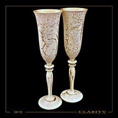 Σετ Σαμπάνιας Εκρού Χρυσό με Swarovski Swarovski, Flute, Champagne, Tableware, Dinnerware, Tablewares, Flutes, Place Settings, Transverse Flute