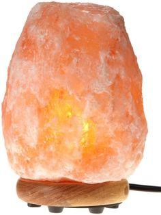 An air-purifying Himalayan salt lamp. Himalayan Salt Crystals, Himalayan Salt Lamp, Pink Salt Lamp, Salt Crystal Lamps, Crystal Lights, Natural Calm, Natural Health, Natural Detox, Natural Glow