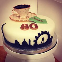 Afternoon tea in London themed cake