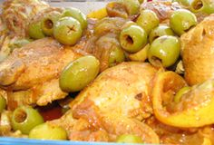 Moroccan Chicken with Lemon and Olives Recipe - Kosher Chicken Dinner Recipes - Sabbath and Jewish Holiday Cooking - Sephardic Recipes