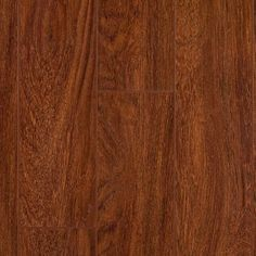 "Brazilian Cherry Glueless Laminate Flooring. AC3 rated. For residential and light commercial usage. 12mm thick, 5"" wide x 47-3/4"" long. Floating installation, Valinge® G2, 4-sided locking tongue and groove. $3.50/sf."