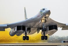 world largest, supersonic,intercontinental long ranged Russian heavy bomber is on take off with tremendous strong 4 jet engines. Military Jets, Military Aircraft, Air Fighter, Fighter Jets, Luftwaffe, Cruise Missile, Russian Air Force, Military Pictures, Aircraft Pictures