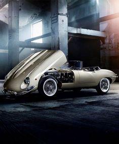 Jaguar E-Type – photo by Pavel Hejný Bugatti, Lamborghini, Ferrari, Maserati, Jaguar Type E, Jaguar Cars, Xjr, British Sports Cars, British Car