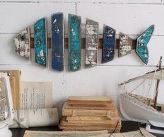 Antique Fish Fali dekoráció