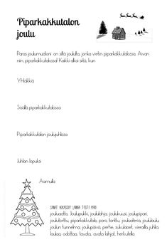 Slide2 Finnish Language, New School Year, Classroom, Writing, Education, Words, Winter, Christmas, Winter Time
