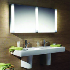 Are you searching for Bathroom Mirror Ideas and inspiration? Browse our photo gallery and selection of custom mirror frames. See more ideas about Framed bathroom mirrors, Easy bathroom updates and Framing a mirror. Bathroom Mirror Design, Bathroom Mirror Cabinet, Bathroom Wall Lights, Mirror Cabinets, Diy Mirror, Mirror Ideas, Easy Bathroom Updates, Simple Bathroom, Bathroom Ideas