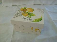Caja de te con limones
