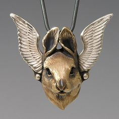 Flying Bunny necklace by Brooke Stone Jewellery
