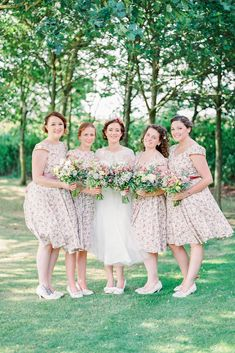 21 Ideas For Rustic Bridesmaid Dresses ❤ rustic bridesmaid dresses neutral short with floral embellishment theresa furey photography ❤ Full gallery: https://weddingdressesguide.com/rustic-bridesmaid-dresses/ #wedding #bride #rusticwedding #bridesmaiddress