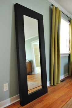 mirror strapped to the wall. Mirror, mirror strapped to the wall.how to baby proof a standing wall mirror!Mirror, mirror strapped to the wall.how to baby proof a standing wall mirror! Living Room Mirrors, Bedroom Decor, Mirror Bedroom, Master Bedroom, Palette, Mirror Mirror, Leaning Mirror, Sunburst Mirror, Tall Standing Mirror