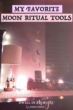 My Favorite Moon Ritual Tools that Inspire Divine Connection New Moon Rituals, Full Moon Ritual, Wiccan, Magick, Pagan, Moon Spells, Moon Magic, Moon Goddess, Moon Child