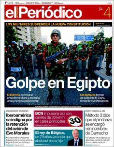 Los Titulares y Portadas de Noticias Destacadas Españolas del 4 de Julio de 2013 del Diario El Periódico ¿Que le parecio esta Portada de este Diario Español?